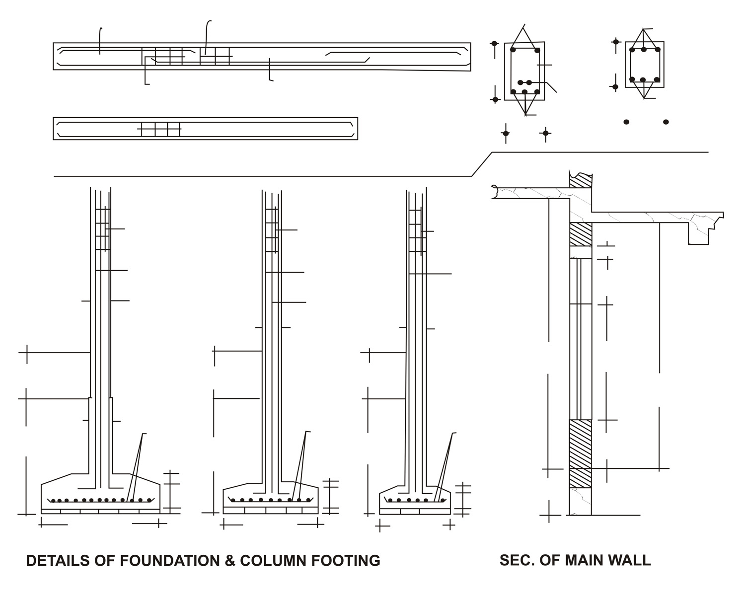 2Details of Foundation & Column Footing