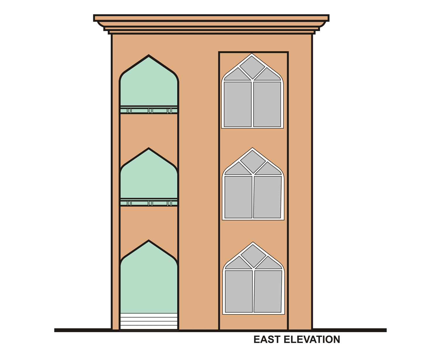 9East Elevation